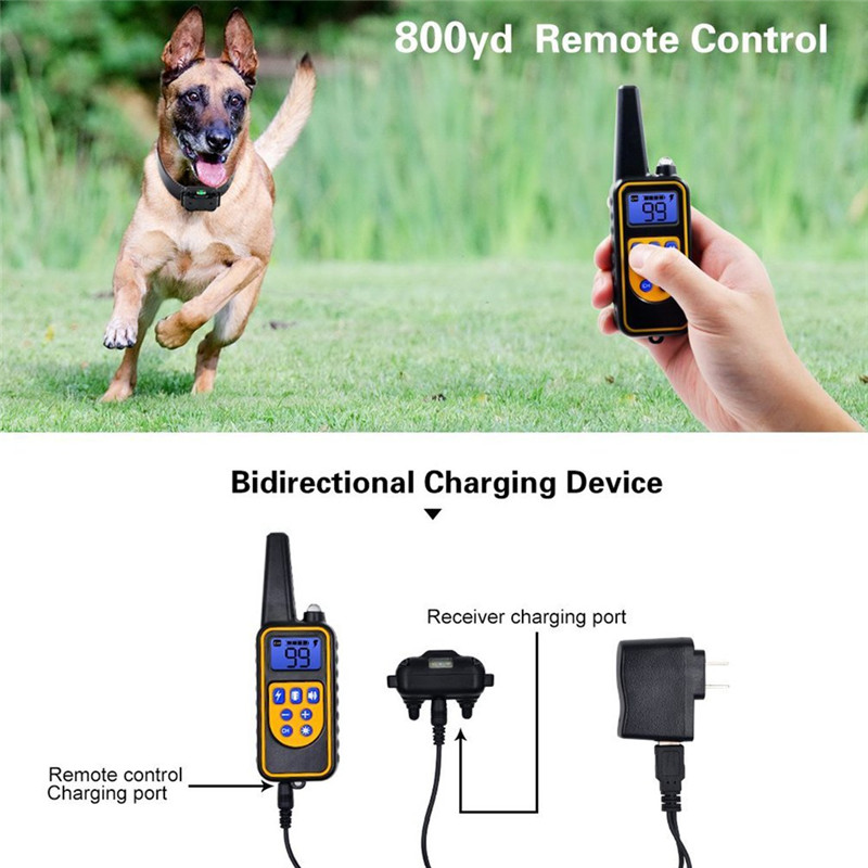 Electric Pet Fencing System Dog Shock Collar With Remote Control Waterproof Electric For Large Dog Pet Training DeviceElectric Pet Fencing System Dog Shock Collar With Remote Control Waterproof Electric For Large Dog Pet Training Device