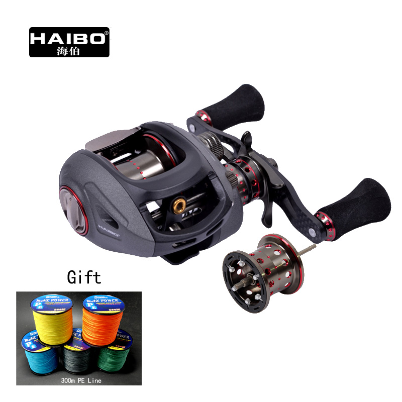 Haibo Smart   200 201  left/right hand 178g Baitcasting Fishing Reel 6.5:1 13BB+1RB with a spare spool ,Free shipping nunatak original 2017 baitcasting fishing reel t3 mx 1016sh 5 0kg 6 1bb 7 1 1 right hand casting fishing reels saltwater wheel