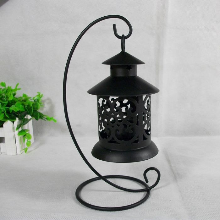 Creative Vintage Lantern Sconce Iron Moroccan Style ... on Antique Style Candle Holder Sconces id=33976
