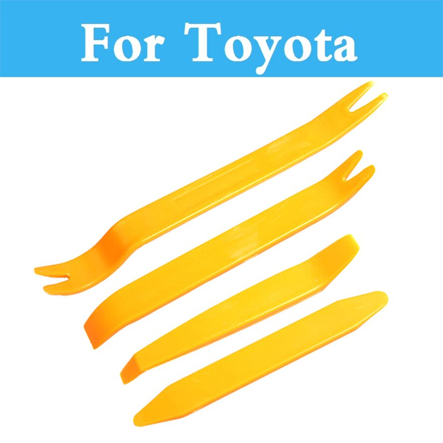 Car Audio Door Clip Panel Trim Dash Radio Removal Pry Tool Set For Toyota Camry Avensis Aygo Belta Blade Brevis Caldina Cami-in Auto Fastener & Clip from Automobiles & Motorcycles