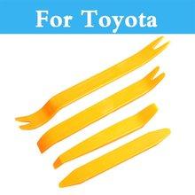 Ensemble doutils de retrait de Radio de tableau de bord de garniture de panneau de Clip de porte Audio de voiture pour Toyota Camry Avensis Aygo Belta lame Brevis Caldina Cami