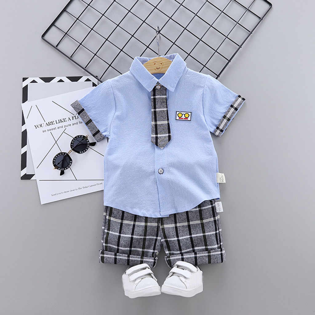 KLV toddler kids baby boys outfits print kid clothes Fashion toddler kids baby boys outfits print kid Cotton clothes#y20