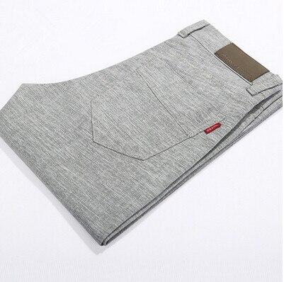 2015 Nueva Llegada Del Verano hombres pantalones de Lino de Alta Calidad Suave pantalones Flojos Rectos de los hombres Pantalones Casuales de Negocios AE-LN-385