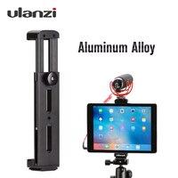 Ulanzi Professional Aluminum Tripod Mount Adapter Tablet Clamp Holder for iPad Pro Mini 1/4 20 thread Cold Shoe Mount Light Mic