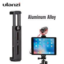 Ulanzi soporte de trípode de aluminio u pad Pro, Adaptador de zapata fría, pinza para tableta, soporte de soporte para iPad Pro Mini Air Light Mic