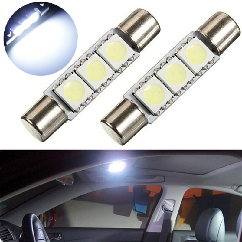 2pcs White 31mm 3 SMD 5050 LED Car Auto C5W Interior Dome Festoon Vanity Mirror Sun Visor Lights Bulb Lamp DC12V триммер sinbo str 4920 чёрный красный