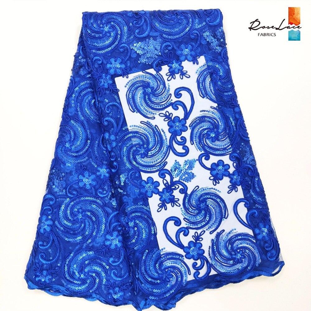 Nuevo estilo 2K19 lentejuelas Cording bordado malla red cordones indio francés lentejuelas tela de tul para fiesta de noche vestido de costura-in encaje from Hogar y Mascotas    1