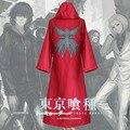 Tokio Ghoul Kirishima Ayato Cosplay Aogiri Tatara Árbol Ghoul Organización Capa Uniforme Rojo Sudadera Con Capucha de Abrigo S-XXL