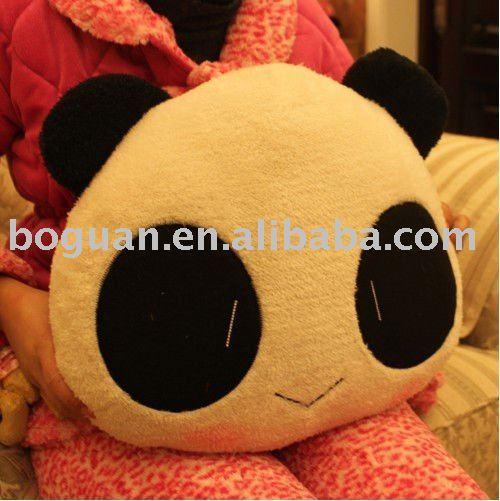 2011 Hot Sale Cute Panda Shape Pillow Wholesale Special Desigh Cushion Pillow