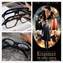 Movie Kingsman The Golden Circle Secret Service Cosplay Eyewear Glasses Eyeglasses Sunglasses(China)