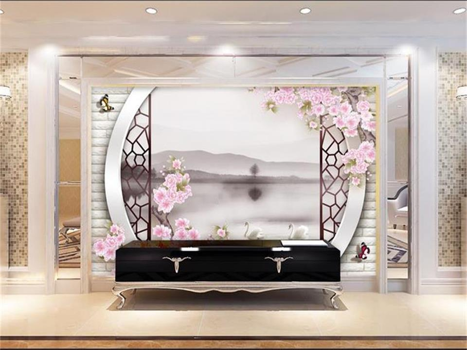 3d wallpaper photo wallpaper custom mural living room flower and bird landscape painting sofa TV background wall sticker mural custom 3d wall mural wallpaper modern european style living room bedroom ceiling fresco background 3d photo wallpaper painting