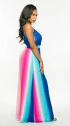 Kobieta Sukienka 2018 wiosna lato formalne Sukienka w stylu Vintage afryki sukienki dla kobiet Plus rozmiar sexy rainbow Tute esthetic Donna Sukienka 2
