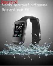 Smartch Новый 1.44 дюймов 2.5 HD сенсорный экран Smart Band TK002 монитор сердечного ритма сна трекер для IOS Android часы воды