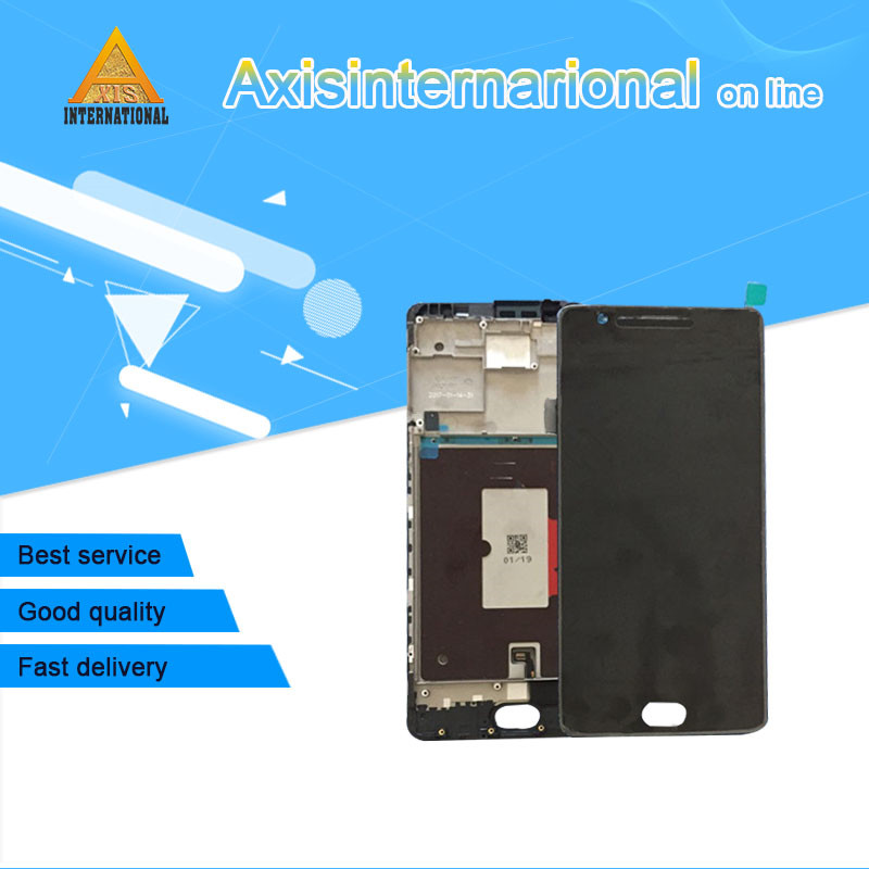 Axisinternational LCD Screen Display Touch Digitizer With Frame For Oneplus Three Oneplus 3 A3000 A3003 EU