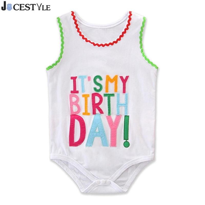 New Summer Cute Newborn Baby Girls Boys Letters Print Romper O-Neck Jumpsuit Cotton Clothes for 0-2T