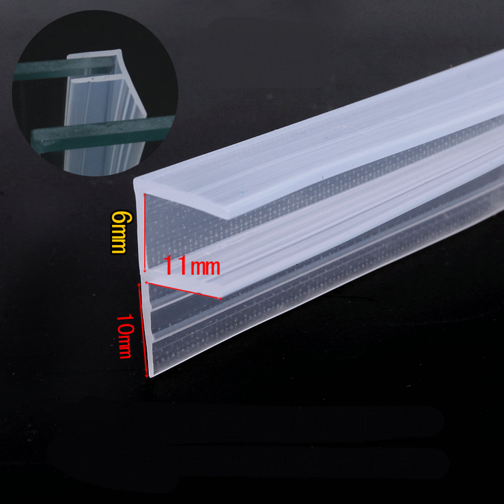 Silicone Seals Sliding Door Screen Shower Door Window Barn Bathroom Sealing 6mm Glass Fixture Accessories F the window office paper sticker pervious to light do not transparent bathroom window shading white frosted glass tint