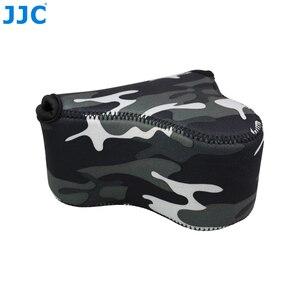 Image 2 - JJC רך ראי מצלמה תיק קטן Neoprene עמיד למים מקרה פאוץ עבור Sony A6100 A6600 A6500 A6300 A6000 Canon M10 G3 X SX520