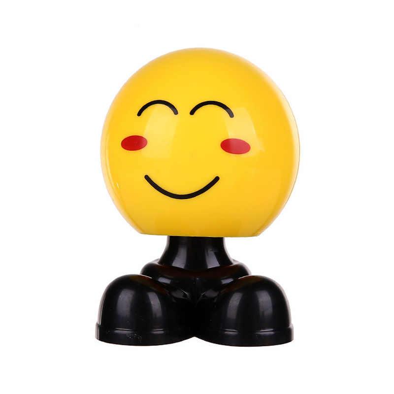 سيارة يهز رأسه دمية لطيف مضحك الوجه شخصية تحميل سيارة التعبيرات حقيبة مجوهرات الحلي ديكور السيارات اكسسوارات السيارات