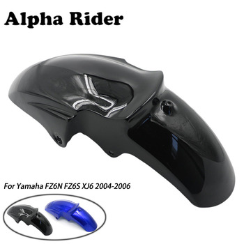 1 Peice Motorcycle Mudguard Front Fender Cover Mudflap Splash Guard Plastic For Yamaha FZ6N FZ6S XJ6 2004 2005 2006 Black Blue