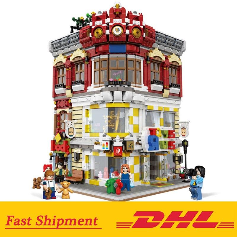 DHL 01006 Stadt Architektur Die Spielzeug und Buchhandlung Set Bausteine Ziegel Gebäude Spielzeug Kinder Kompatibel mit Lego Stadt-in Sperren aus Spielzeug und Hobbys bei  Gruppe 1
