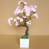 70 см искусственные растения вишни дерево гостиная украшения Цветы Главная Свадебные украшения Аксессуары моделирования бонсай