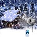 Рождественский снежинка лазерный светильник прожектор с эффектом снегопада IP65 движущийся Снег Открытый сад лазерный проектор лампа для го...