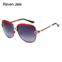 Reven Jate Women Sunwear 8702 Woman Sunglasses Frame Polarized Gradient Tinted Lenses Polarize Female Sunshades