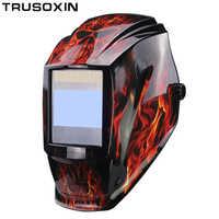 Batería intercambiable 4 Sensor de arco gran visión Solar Auto oscurecimiento/molienda de sombreado/casco de soldadura polaco/gafas de soldador /máscara/tapa