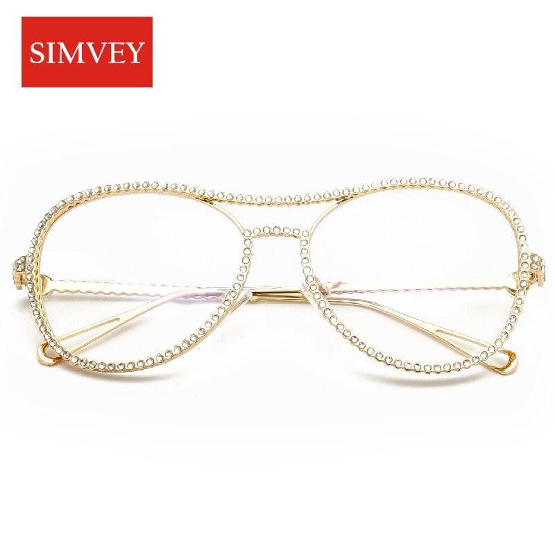 Simvey 2017 Mode Frauen Strass Brillen Rahmen Klassische Retro ...
