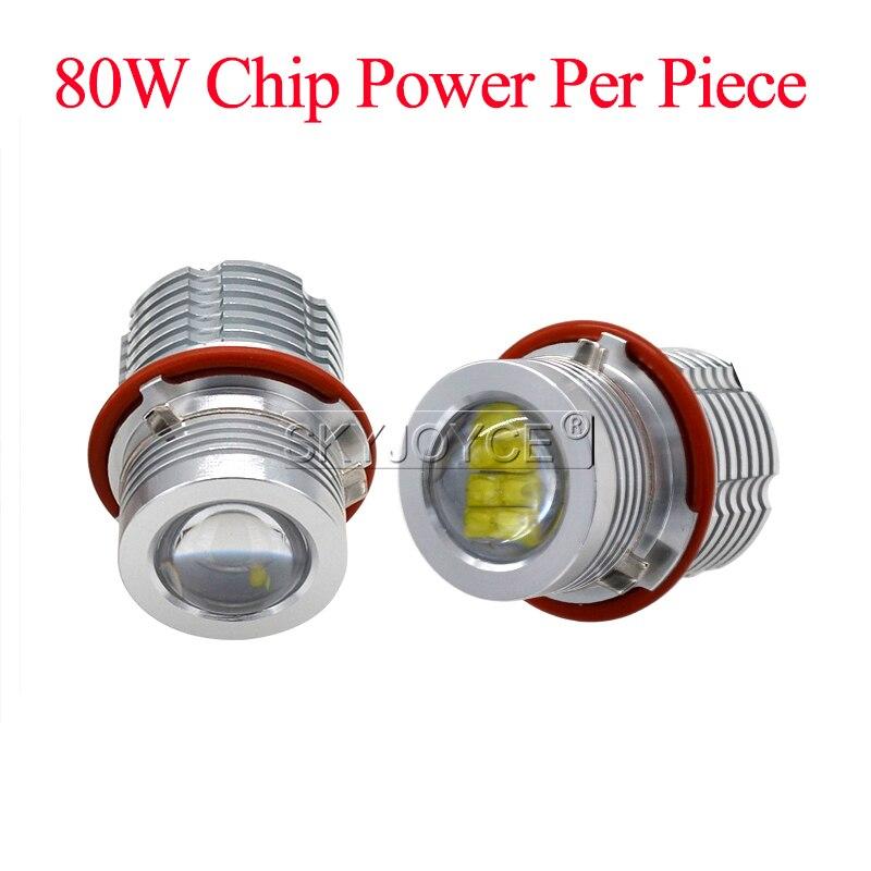 2018 High Quality 280W 160W E39 LED Marker Kit 80W LED Chips DRL 6500K White For E63 E65 E53 E83 E87 X3 X5 LED Angel Eyes E60 (5)