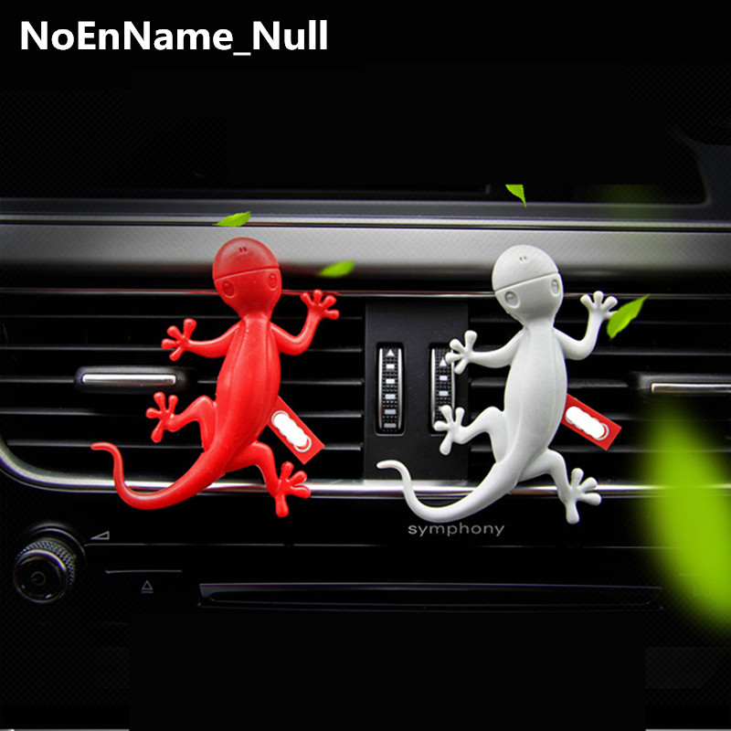 1pcs for Audi BMW Benz car air conditioning outlet perfume dedicated gecko fragrance car outlet perfume air freshener with thermometer lime