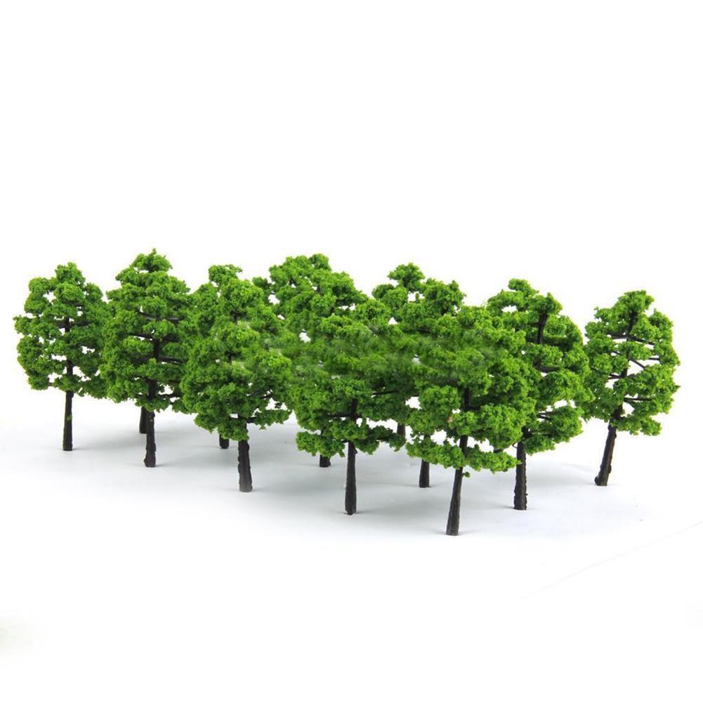 30# A set of 20 Model Mini Trees Train Railroad Diorama Wargame Park Scenery Green Plants Decor Yard & Garden Decoration