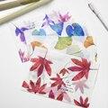 8 pcs/lot Vintage Retro Leaf Translucent Sulfuric Acid Paper Envelope For Postcard Korean Stationery Free Shipping 926