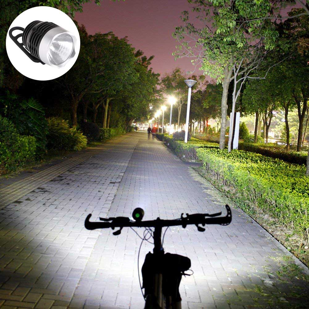 LED Bicycle Light Headlight High Brightness 3 Mode ABS Durable For Cycling Outdoor MDJ998
