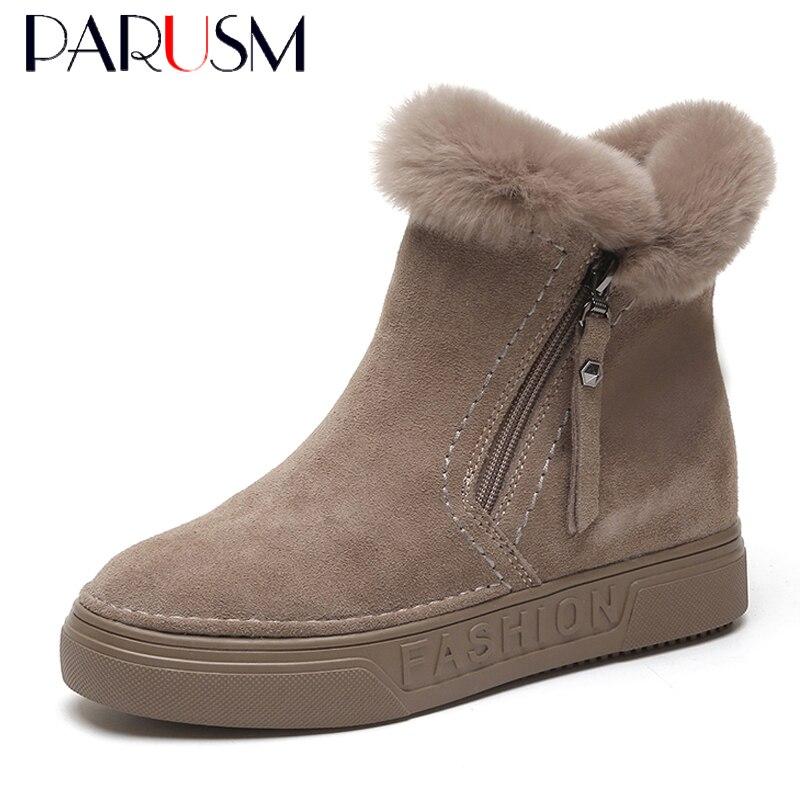 752fa93207ec Women Boots Female Winter Shoes Woman Rabbit Fur Keep Warm Snow Boots  Fashion Ankle Boots Plush