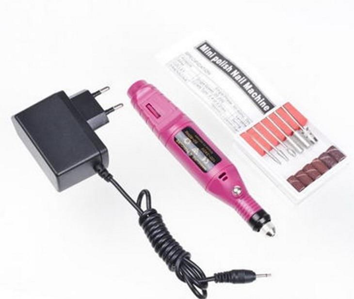Heißer verkauf 1 satz 6 bits 20000 rpm Professionelle Elektrische Maniküre Maschine Nagel-bohrgerät kunst Pen Pediküre Datei Polnischen Form werkzeug Füße