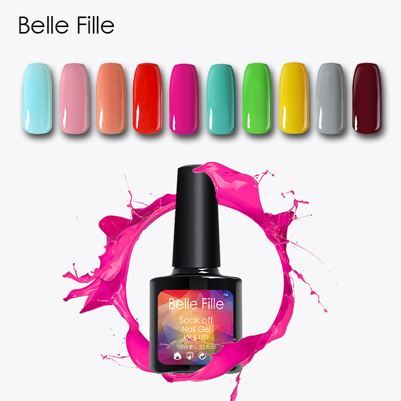 BELLE FILLE UV Nail Gel Polish Soak Off salmon pink nude color Professional vernis semi permanent Nail Art fingernail polish on AliExpress