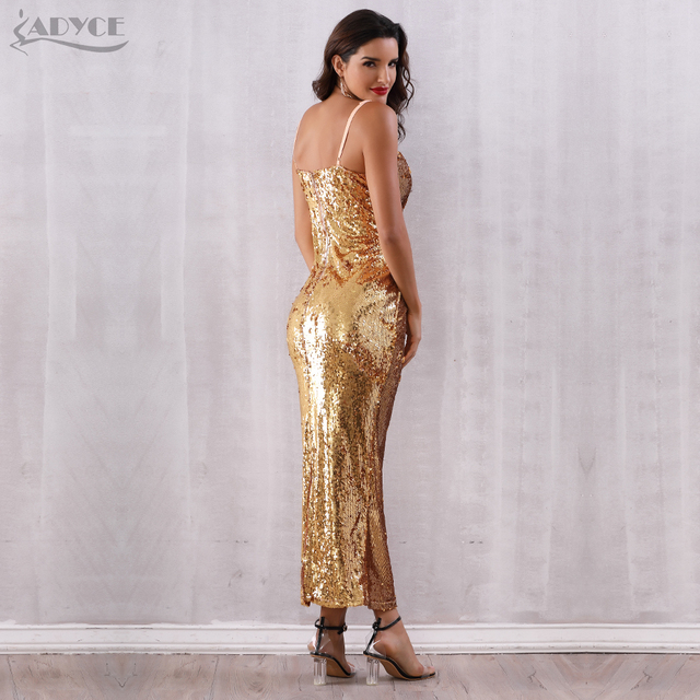 Backless Spaghetti Strap Sequin Club Dress 5