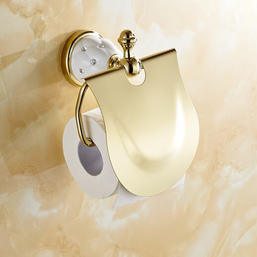Bathroom accessories Gold Toilet Paper Holder with diamond,Roll Holder,Tissue Holder,Solid Brass -Bathroom Accessories Products toilet paper holder roll holder tissue holder bathroom accessories products