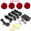 best selling hot Car parking system reverse backup radar Alarm Beep 4 sensors 44 colors to choose buzzer round shape
