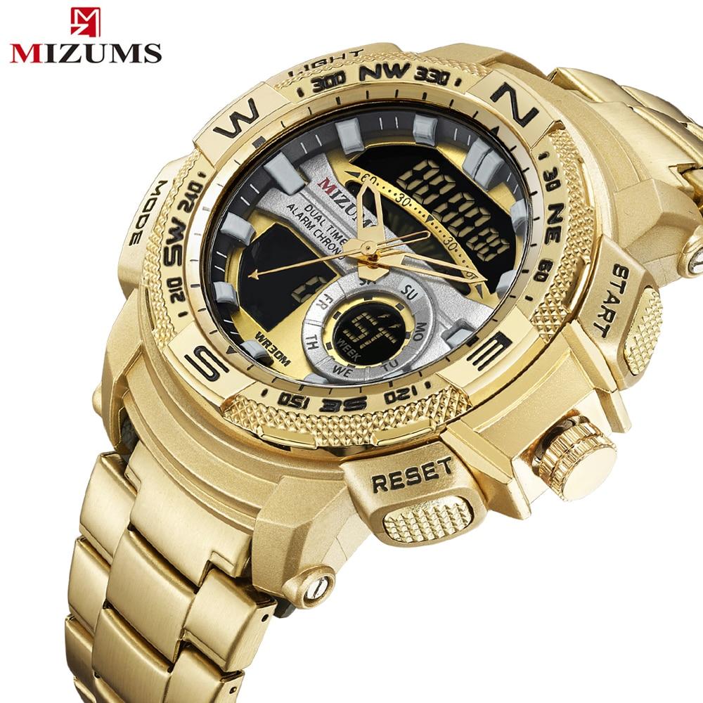 fcb4b241baba Hombre analógico de cuarzo reloj de lujo de deporte de moda reloj de  pulsera Digital impermeable inoxidable relojes hombre reloj Relogio  Masculino en ...
