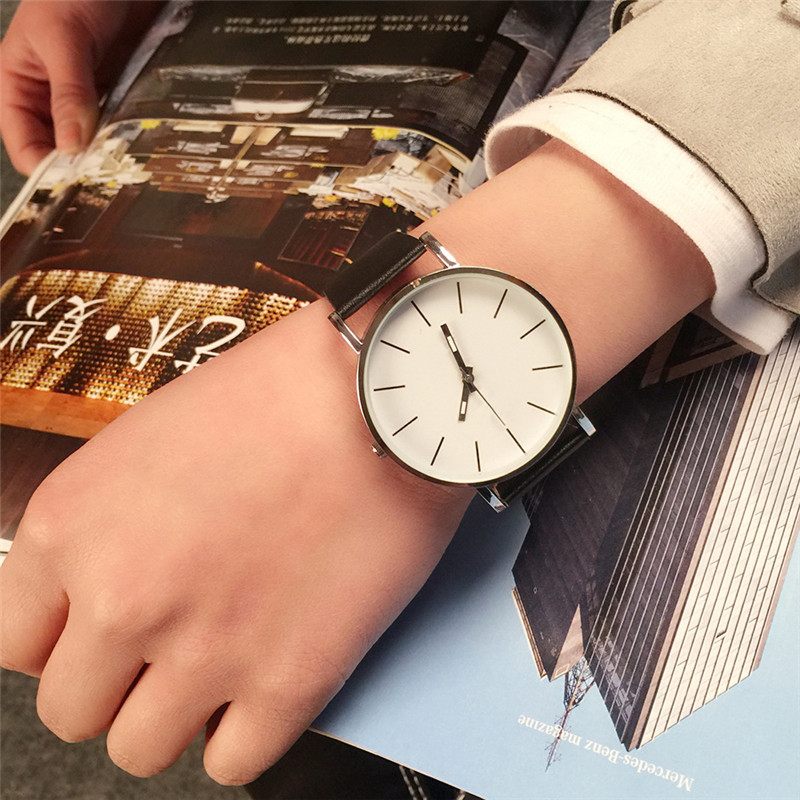 Simple Women Quartz Watch Leather Strap Ultra Thin Stainless Steel  Top Brand Luxury Ladies Wrist Watches Montre Femme