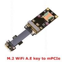 M 2 WiFi A E Key To Mini Pci E MPCIe Wireless Network Card Extension Cable