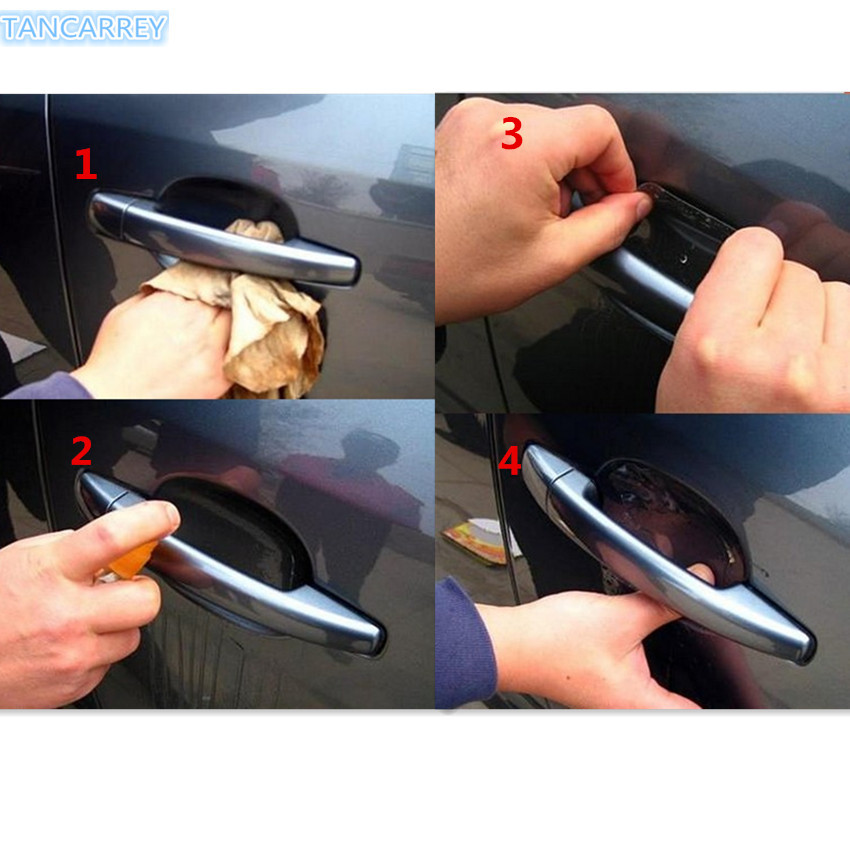 <font><b>2018</b></font> NEW Car door handle protection Stickers for Opel Astra H G J Insignia Mokka <font><b>Toyota</b></font> Avensis <font><b>Rav4</b></font> Ford Focus 2 3 <font><b>Accessories</b></font> image