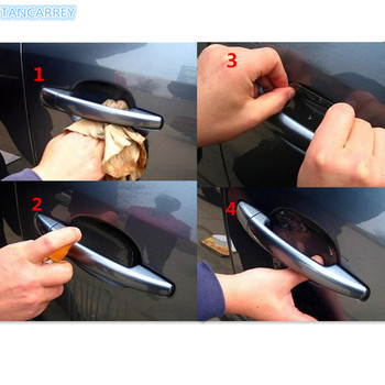 2018 NEW Car door handle protection Stickers for Opel Astra H G J Insignia Mokka Toyota Avensis Rav4 Ford Focus 2 3 Accessories image