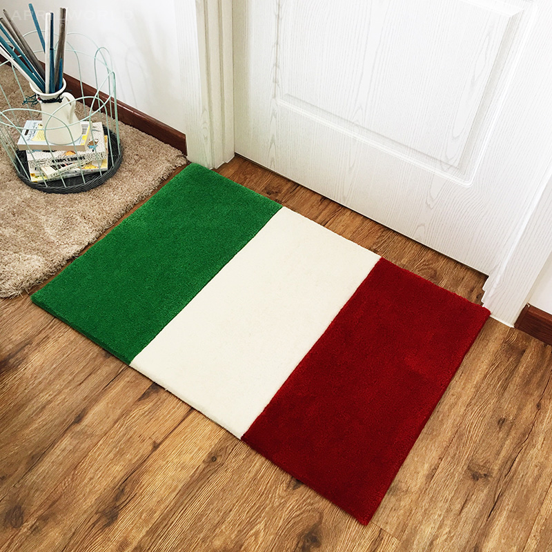 Fashion French Italian Flag Carpet Bedroom Kids Play Mat Soft Acrylic Big Area Rugs Carpet For Living Room Custom Pattern