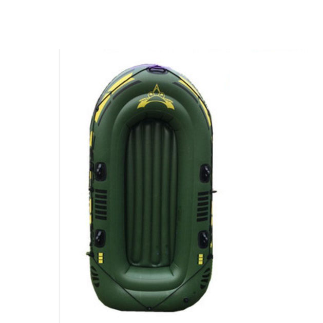 LM1243 Super Thickening PVC Inflatable Rowing Boat Green Fishing Boat with Spare Parts 200kg Bearing 2