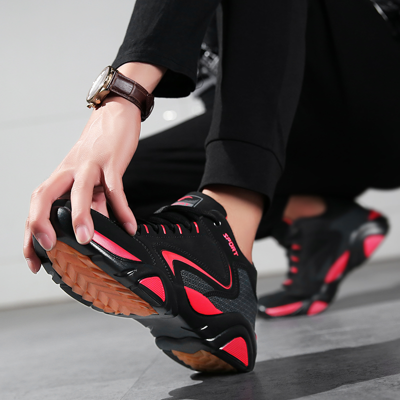 Moda Cómodo Desgaste Lace Resistentes Alta Tamaño up rojo Gran Zapatos Calzado azul 2018 Negro Hombre Zapatillas De Hombres Calidad Casual Al 5IwxAwO
