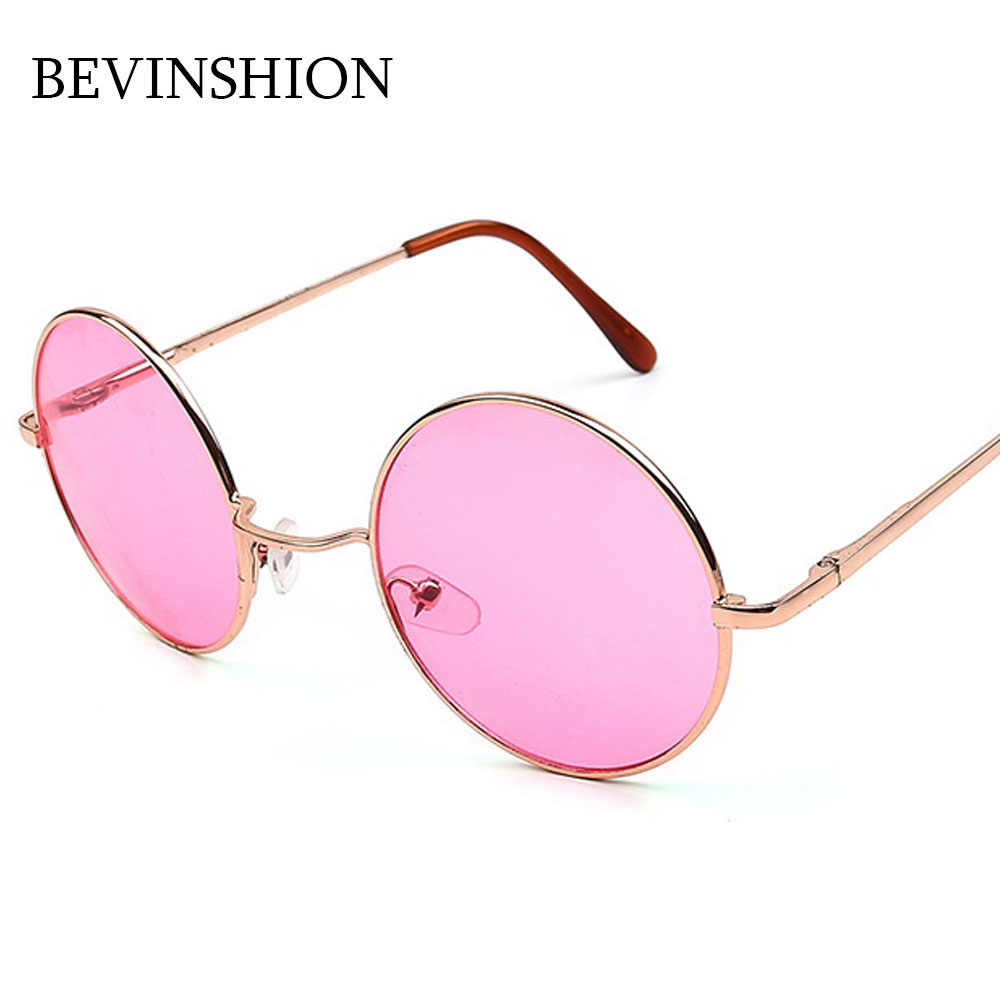 05782dfcc056a Classic Vintage Round Sunglasses Women Men Japan Korean Cute Prince Sun Glasses  Rose Gold Pink Yellow