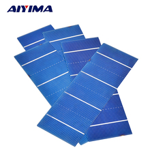 AIYIMA Polycrystalline Solar Cells Panels 156*52mm For DIY 0.5V 1.39W Solar Charger 30pcs